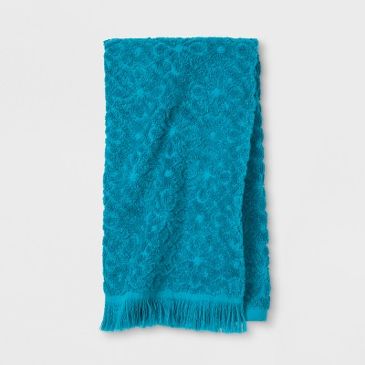 Soft Jacquard Accent Hand Towel Turquoise - Opalhouse™
