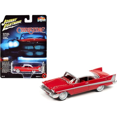 """1958 Plymouth Fury Red (Daytime Version) """"Christine"""" (1983) Movie """"Pop Culture"""" 1/64 Diecast Model Car by Johnny Lightning"""