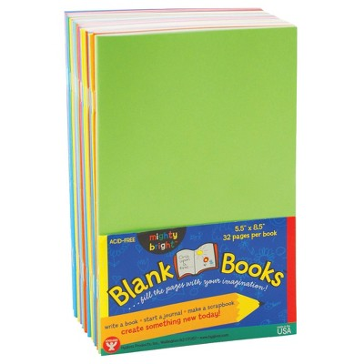 "10ct 5.5"" x 8.5"" Blank Paperback Books Multicolor - Hygloss"