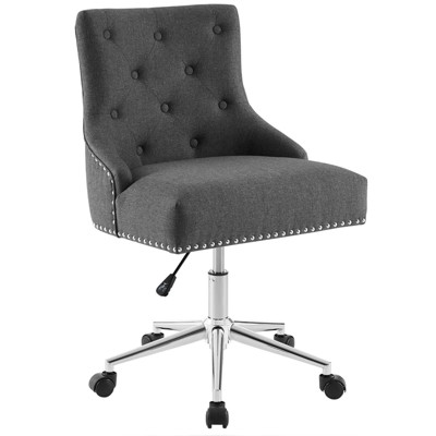 Regent Tufted Button Swivel Upholstered Fabric Office Chair - Modway