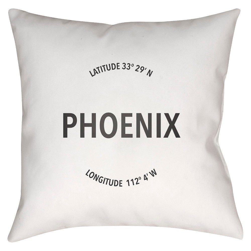 White City Compass Phoenix Throw Pillow 18