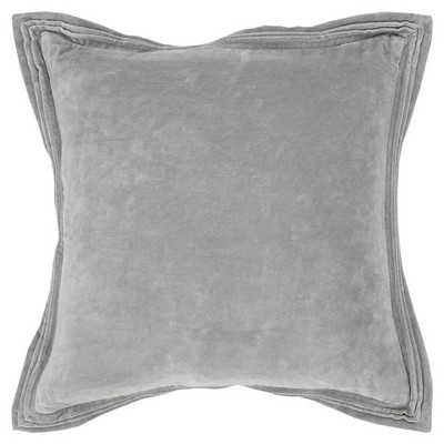 Connie Post Solid Poly Filled Square Pillow Gray - Rizzy Home