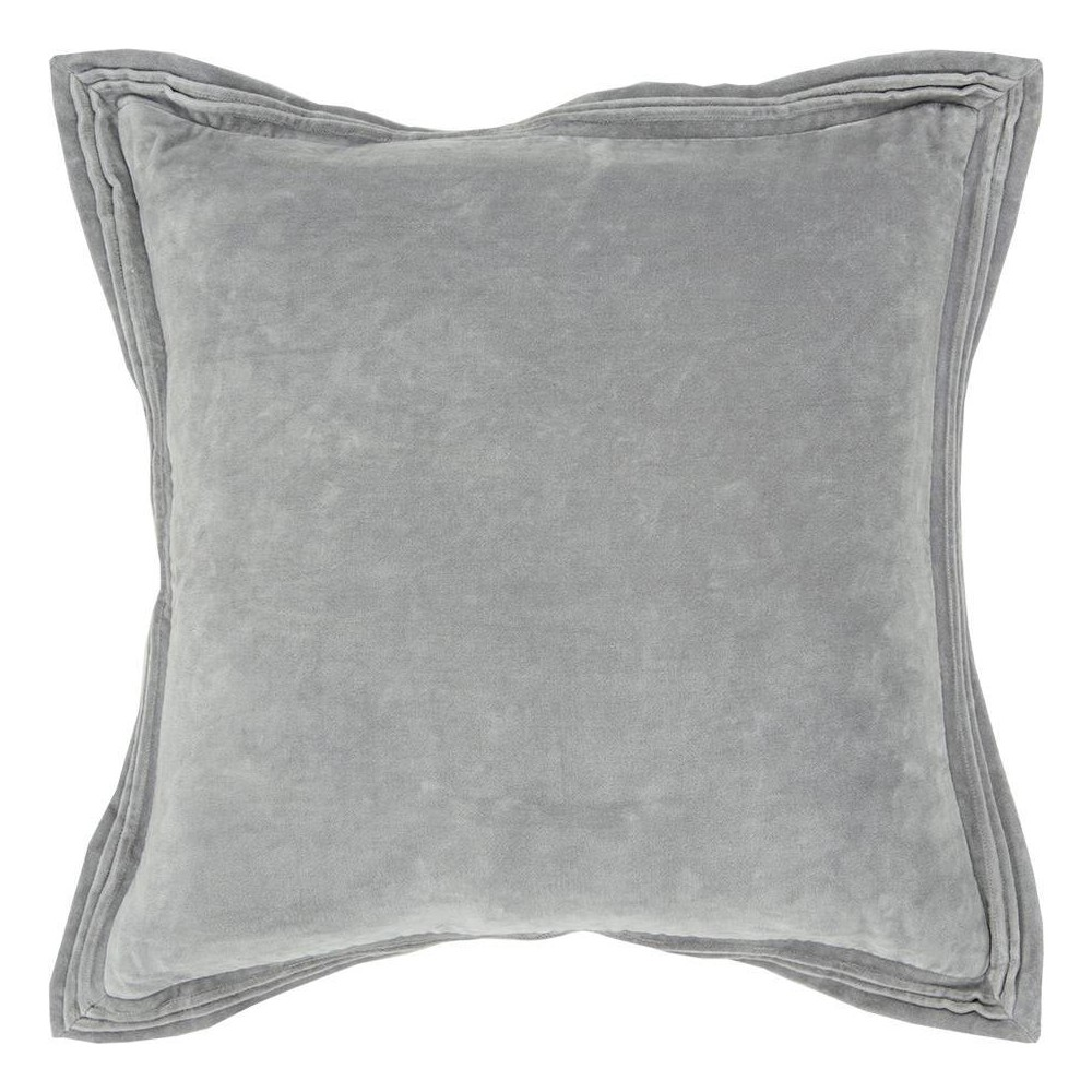 Image of Connie Post Solid Poly Filled Square Pillow Gray - Rizzy Home