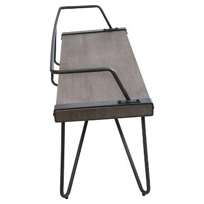 Stefani Industrial Bench   Antique Metal   LumiSource : Target