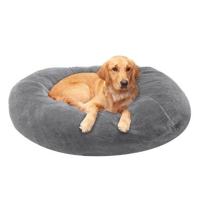 FurHaven Round Plush Ball Dog Bed