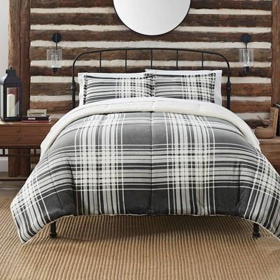 Serta Cozy Plush Plaid Comforter Set
