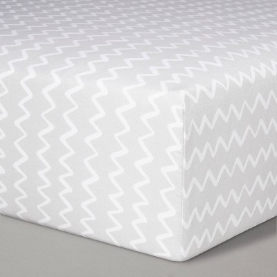 Fitted Crib Sheet Chevron - Cloud Island™ Gray/White