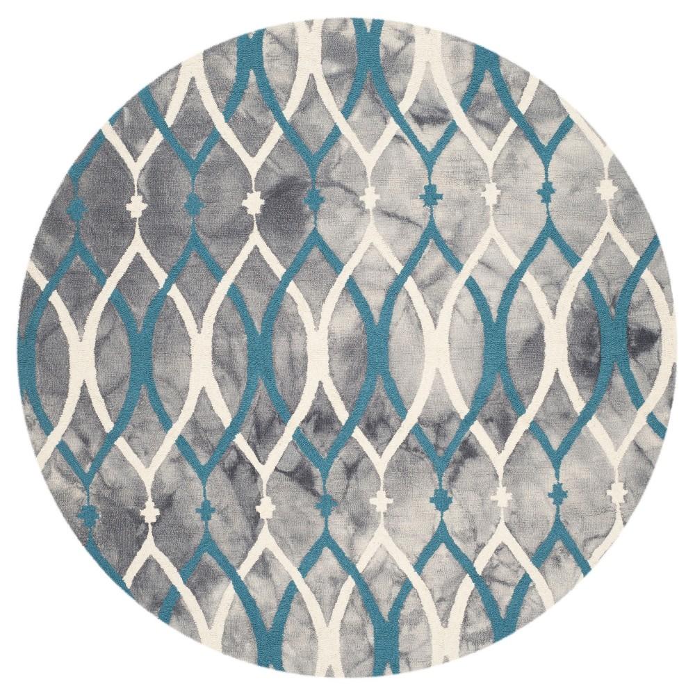 Garret Area Rug - Gray/Ivory Blue - (7'x7' Round) - Safavieh