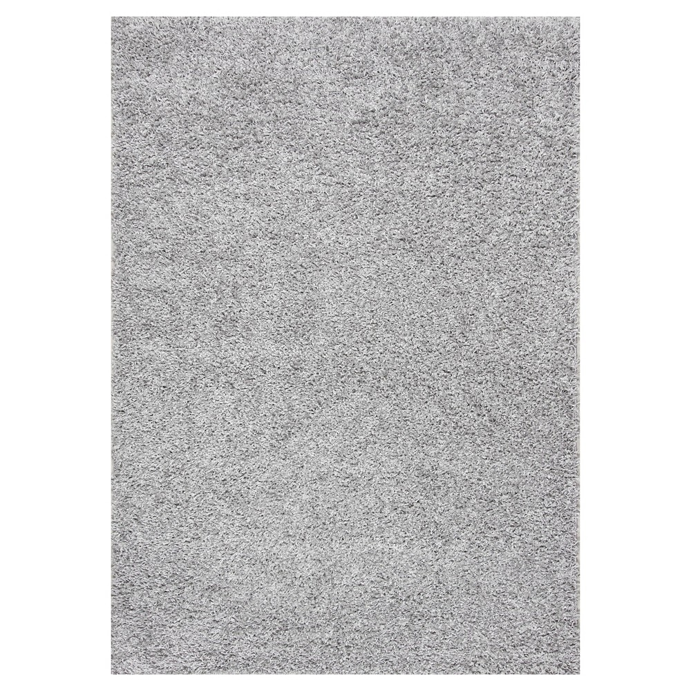 Sterling Gray Solid Loomed Area Rug - (9'2x12') - nuLOOM, Silver