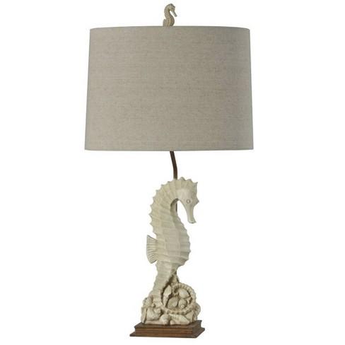 Seahorse Table Lamp Buff Beige  - StyleCraft - image 1 of 4