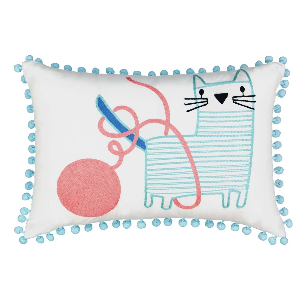 "Image of ""12""""x18"""" Kitty City Throw Pillow - Waverly Kids"""