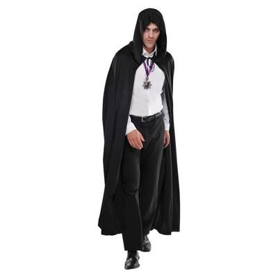 Adult Hooded Cape Halloween Costume - Black