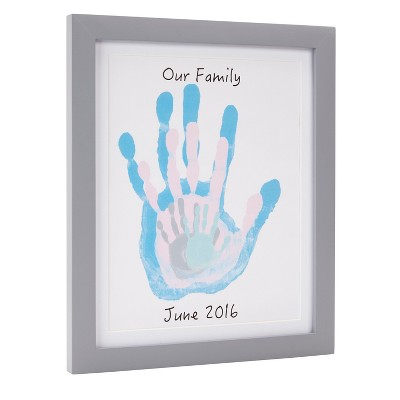 Pearhead Family Handprints Frame, DIY Keepsake Kit
