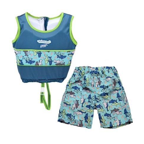 Aqua Leisure SwimSchool 2 to 4 Years 2 Piece Swim Trainer, Small/Medium, Aqua - image 1 of 3