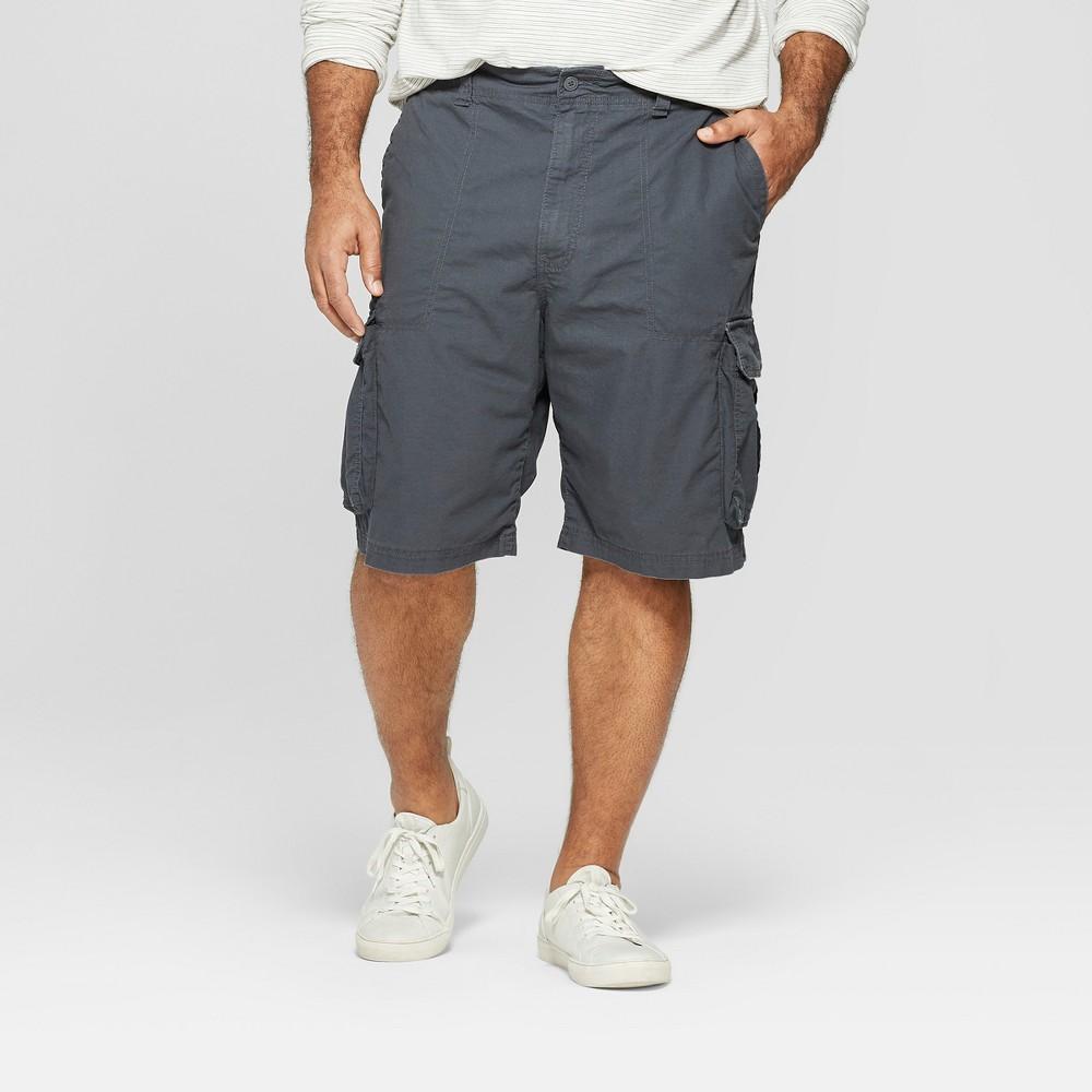 Men's Big & Tall 11 Cargo Shorts - Goodfellow & Co Gray 48, Railroad Gray