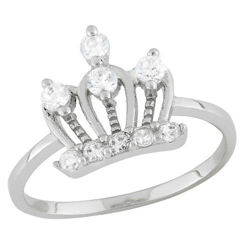 Tiara Kid's Cubic Zirconia Royal Crown Ring in Sterling Silver - image 1 of 2