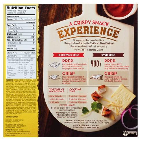 california pizza kitchen bbq recipe chicken crispy flatbread 69oz target - California Pizza Kitchen Calories