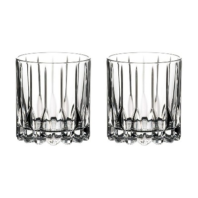 Riedel 6417/01 Specific Glassware 6 Ounce Quality Stemless Neat Crystal Cocktail Tumbler Glasses Set with Microfiber Polishing Cloth, Clear (2 Pack)
