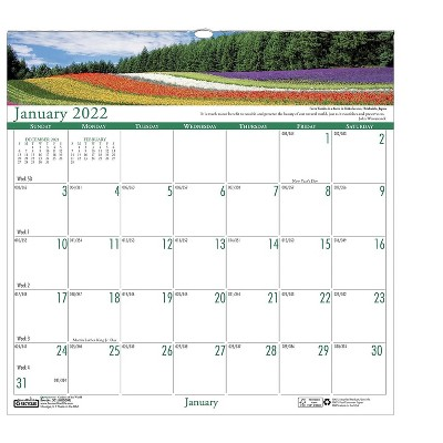 """House of Doolittle 2022 12"""" x 12"""" Wall Calendar Earthscapes Gardens of the World Multicolor 301-22"""