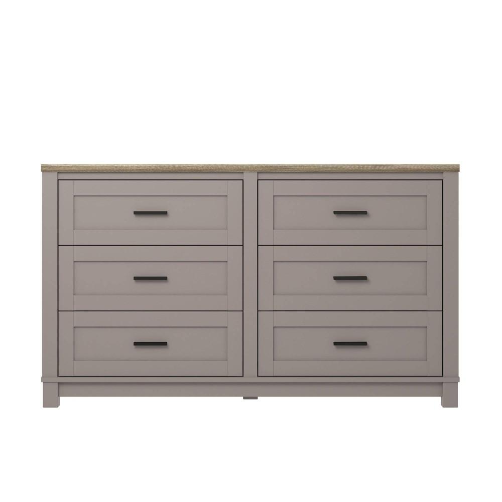 Paramount 6 Drawer Dresser Gray - Room & Joy