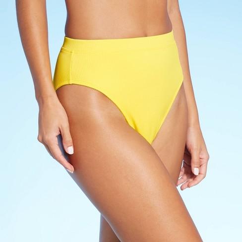 Juniors' Ribbed High Leg High Waist Bikini Bottom - Xhilaration™ - image 1 of 4