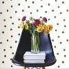 RoomMates Dots Peel & Stick Wallpaper Black - image 2 of 3
