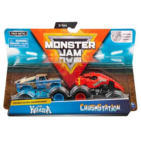 Monster Jam Official Big Kahuna vs. Crushstation Die-Cast Monster Trucks 1:64 Scale 2pk - image 1 of 4