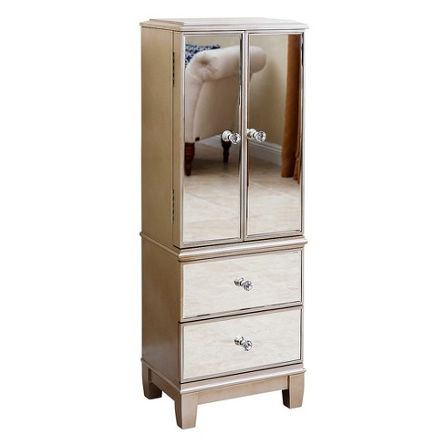 Millie Mirrored Jewelry Armoire - Silver - Abbyson : Target