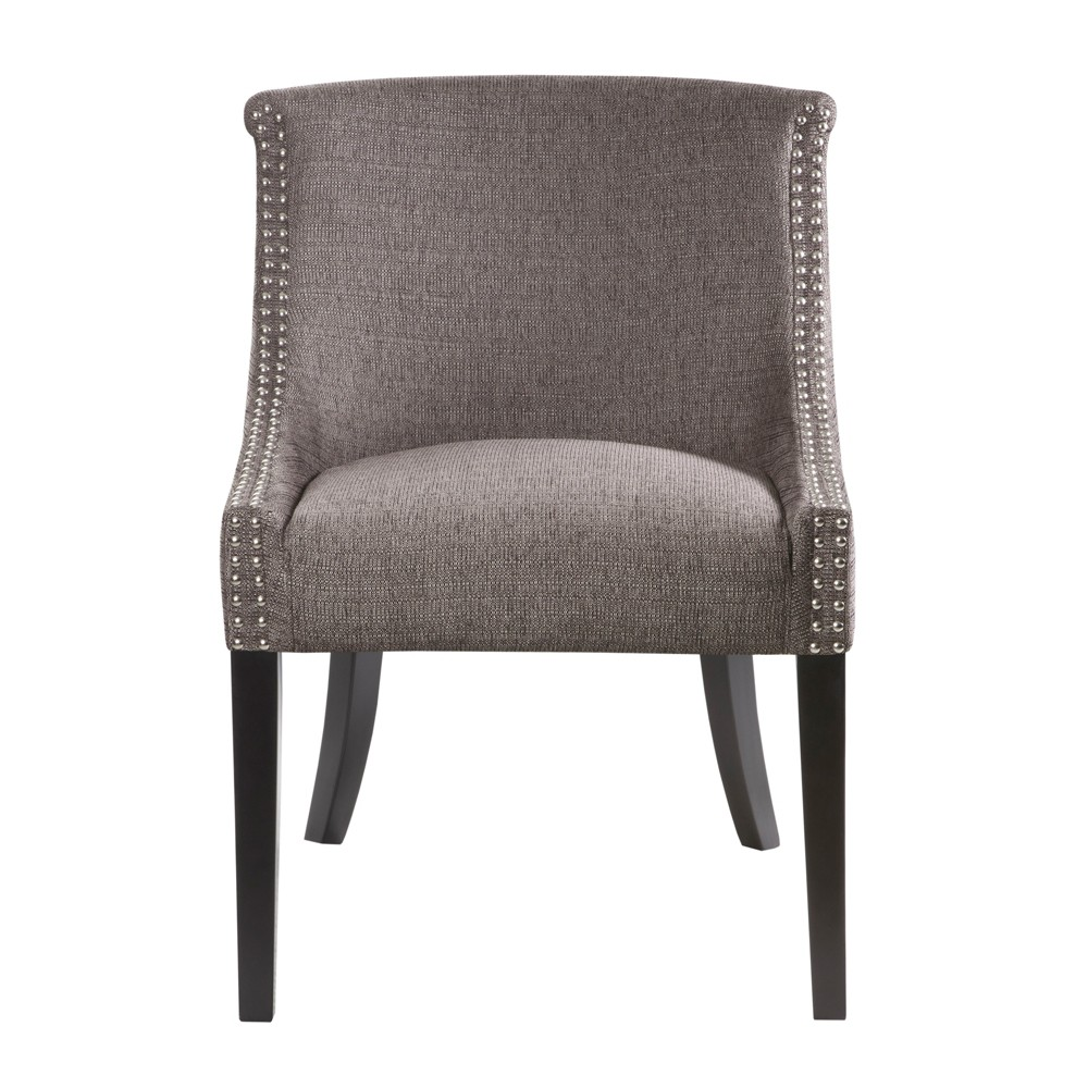 Caitlyn Rounded Roll Back Chair, Gray