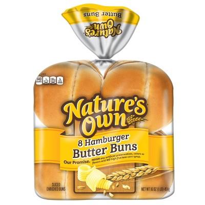 Nature's Own Butter Hamburger Buns - 8pk/16oz