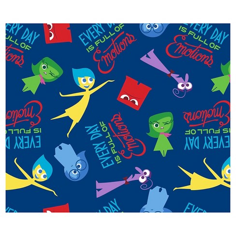 "Disney Pixar Inside Out Everyday Full Of Emotions, Blue, 100% Cotton, 43/44"" Width, Fabric by the Yard - image 1 of 1"