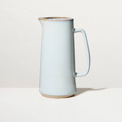Large 85oz Glazed Stoneware Pitcher Light Blue - Hearth & Hand™ with Magnolia
