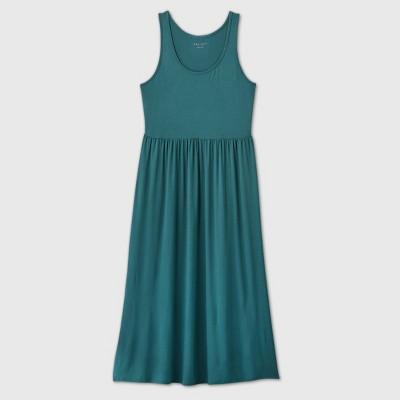 Women's Plus Size Sleeveless A-Line Babydoll Dress - Ava & Viv™ Green 1X
