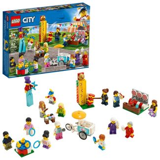 LEGO City People Pack - Fun Fair Toy Fair Building Set with Ice Cream Cart 60234