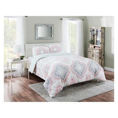 Aqua Sabina Reversible Comforter Set (King)- Marble Hill