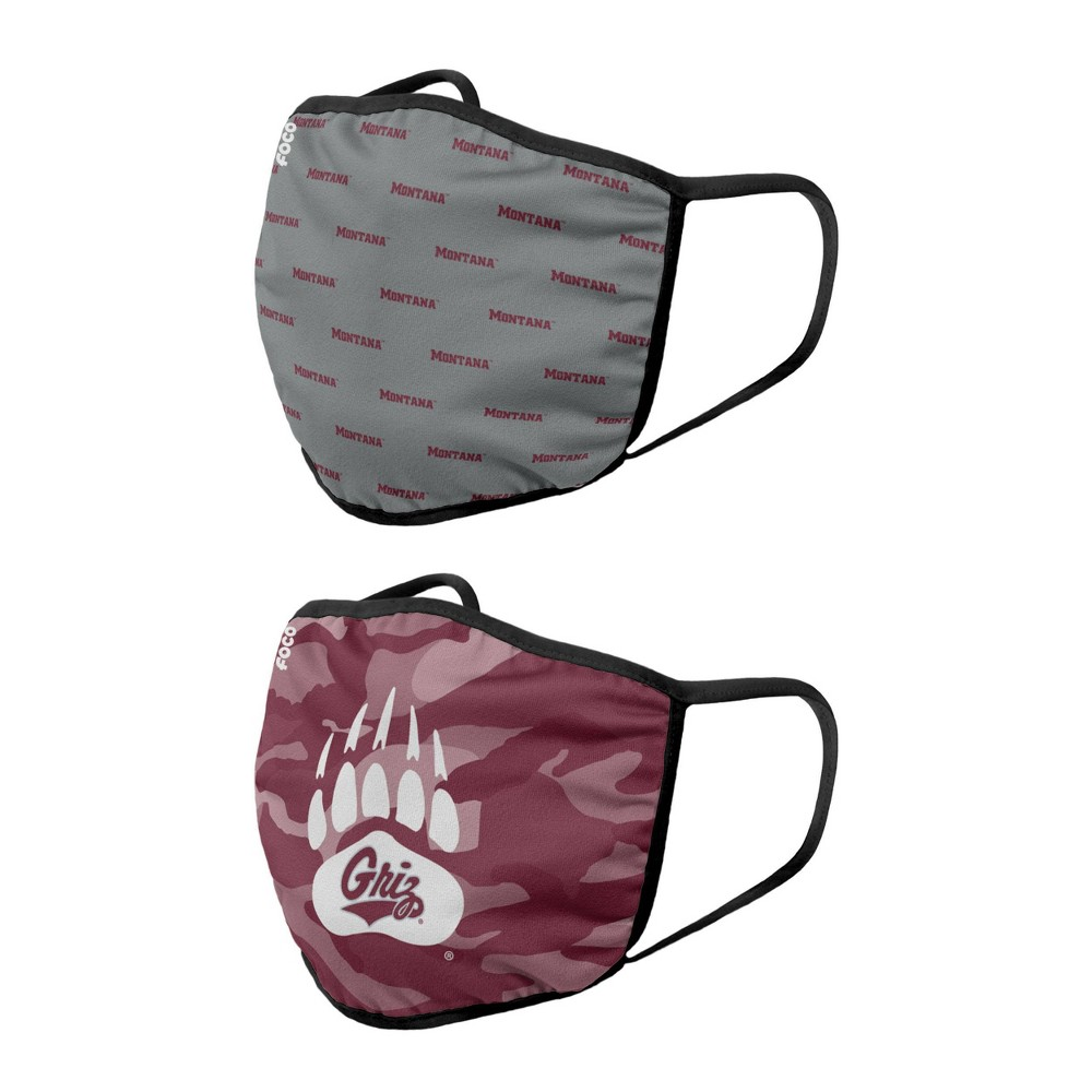 Ncaa Montana Grizzlies Youth Clutch Printed Face Covering 2pk