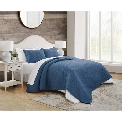 Queen 3pc Circle Embossed Quilt Set - VCNY Home
