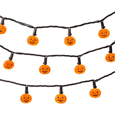 20ct Halloween LED Pumpkin String Lights - Hyde and Eek! Boutique™ - image 1 of 2