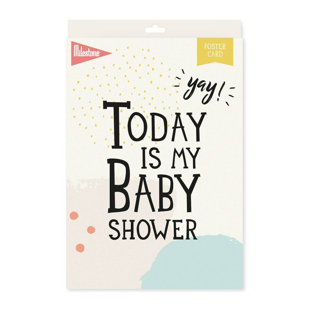 Image of Milestone Baby Shower Poster Card