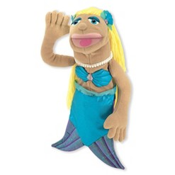 Melissa & Doug Mermaid Puppet With Detachable Wooden Rod for Animated Gestures