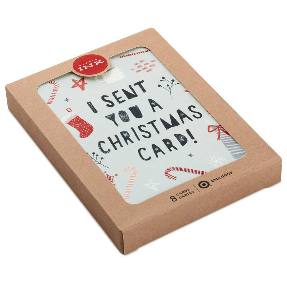 Image of 8ct Hallmark I Sent You A Christmas Greeting Cards