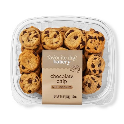 Mini Chocolate Chip Cookies - 12oz - Favorite Day™