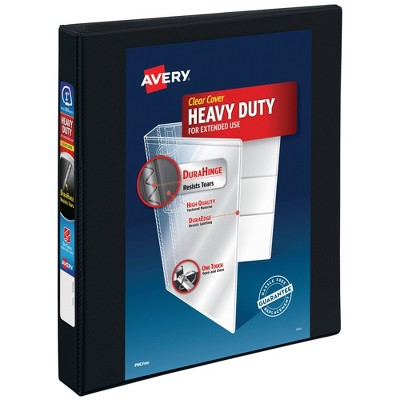 "Avery 1"" 220 Sheet Heavy Duty Nonstick View Ring Binder Black"