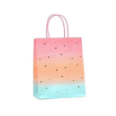 Medium Gift Bag Sunset with Foil Ombre - Spritz™