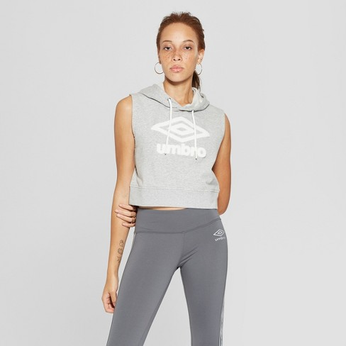 b1c11221de7899 Umbro Women s Sleeveless Sweatshirt - Casual Gray XL   Target