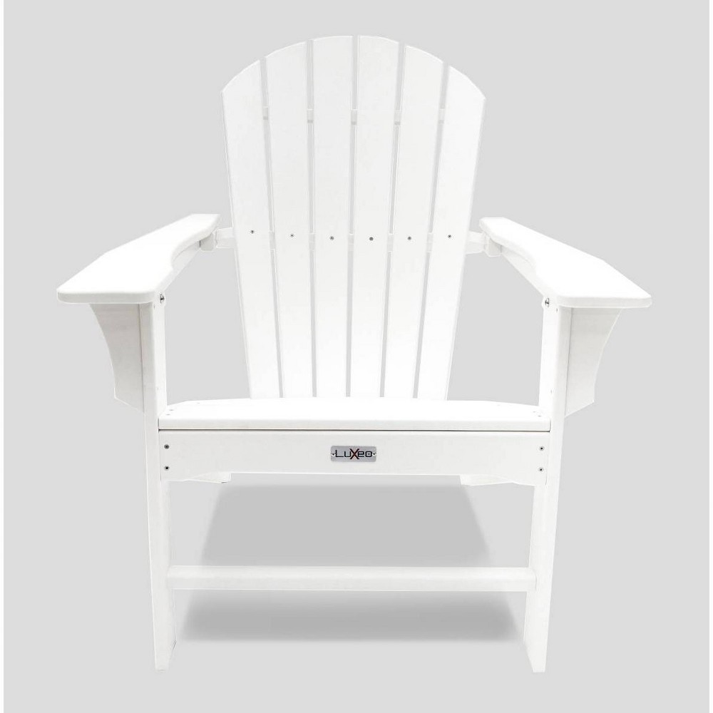 Image of Hampton Poly Outdoor Patio Adirondack Chair - White - LuXeo