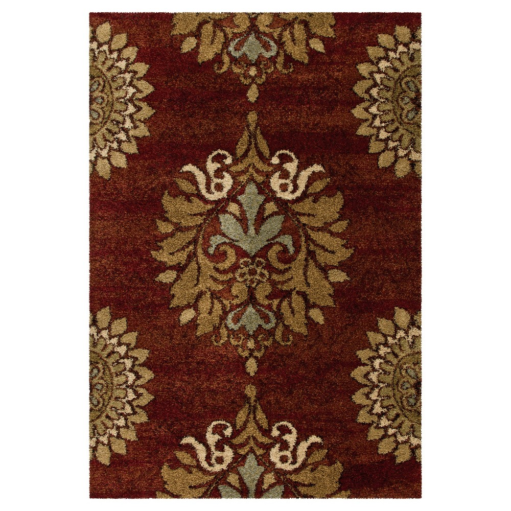 Red Abstract Woven Area Rug - (9'X13') - Orian