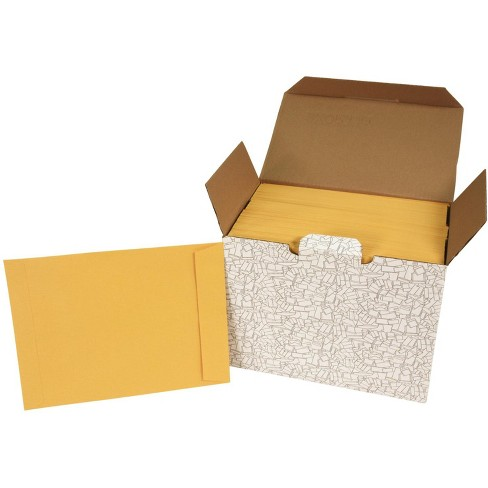 School Smart No Clasp Catalog Envelopes, 9 x 12 Inches, Kraft, pk of 250 - image 1 of 2