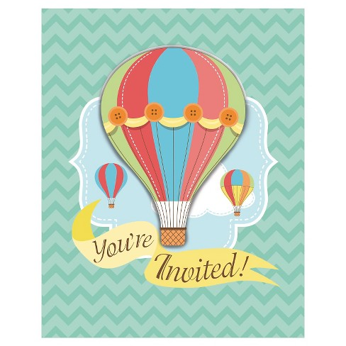 up up away invitations 8 pk target