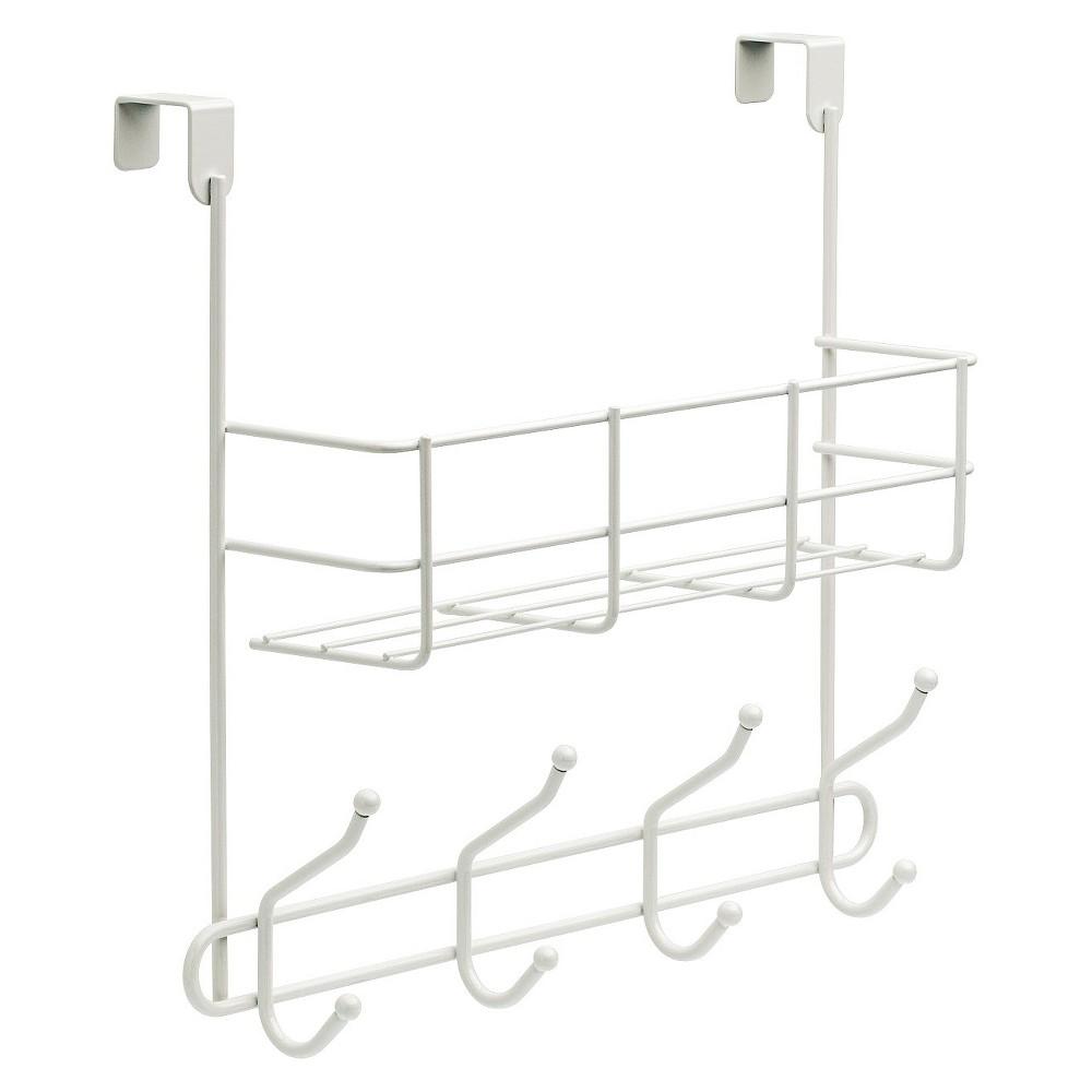 Over The Door Basket With Decorative Hook Rack White Room Essentials 8482